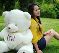 Wholesale-Hot sell Beige Giant Big Plush Teddy Bear Soft 70cm free shipping