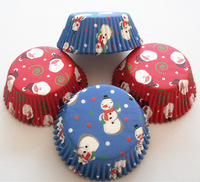 Free Shipping 400pcs Christmas Patterns Cupcake Liners Baking Cups Bakeware Mould For Party