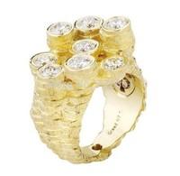 Se7en Greed  rings for women sapphire  sterling silver jewelry