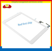 20pcs Original For Ipad Air 5 Glass Lens Panel Touch Screen Digitizer Assembly + Home Button + Flex Adhesive White and Black