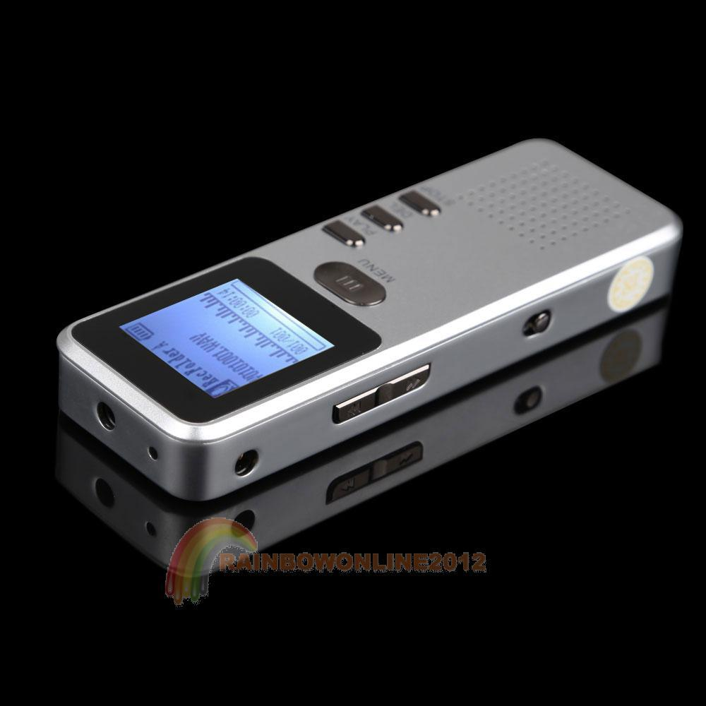 R1B1 4GB PRO USB Digital Activated Voice Recorder MP3 Player Dictaphone Silver(China (Mainland))