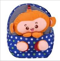 New 2014 Plush Doll Children Cartoon Bag Cut Monkey Cat Dog Satchel Jelly Candy bag Kids Backpack School backpacks Free Shipping