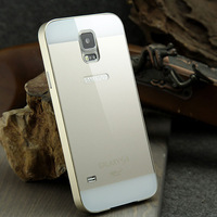New!!! Super Slim phone protector for Samsung S5, I 9600. Metal frame, acrylic cover. Forros para samsung, Free Shipping.