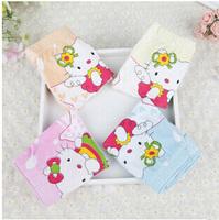 5 Pairs /lot  Hello Kitty Cuecas Infantil Cartoon Printing Elasticity Panties For Girls Baby Boxer Bamboo Fiber