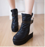 2014 new arrive women boots platform high heels shoes winter snow boots 2 colors free shipping