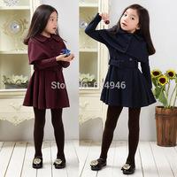 2014 spring and autumn new Korean big virgin girls shawl  + long-sleeved dress +Belts