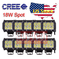 """Wholesale 10pcs Cree LED Working Light Bar  4"""" 18w Spot Beam for Motorcycle Car Truck Trailer Tractor SUV ATV 4X4 #4093*10"""