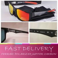 Free shipping,Racing FR Jupiter Sunglasses Matte Carbon/ Ruby Iridium Polarized Brand O Sports sunglasses for men/women