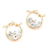 Elegant Sweet Circle Stud Earrings Fashion Women Crystal Earring 2014 New