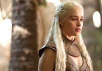 New Movie Game of Thrones Actress Daenerys Targaryen Long Wavy Blonde Wig with braid Cosplay Anime wig