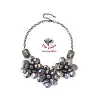 XL877 Accessories wholesale bright black flower short necklace