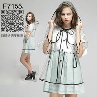 Women's thickening transparent adult raincoat poncho electric bicycle outdoor fashion