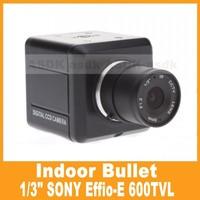 "Free Shipping!! 1/3"" SONY Effio-E 600TVL CCTV Bullet Camera, Security Mini Indoor Video Camera CCTV Cam (OSD Optional)"