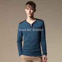2014 Famous Brand Winter Thick Sweater Polo Men Blusas De Inverno Masculino Men V-Neck Solid Sweater Zipper Pullover Male S11