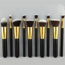 2014 Brand 10Pcs Professional Synthetic Cosmetic makeup tool Brushes Set silver