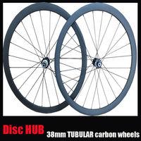 23mm width,Disc Brake hub 38mm tubular carbon road bike wheelset carbon disc brake bike wheelset