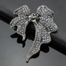Crystal Golden Leaf Brooch Popular Wedding Rhinestone Pins And Broaches Brooch Best Crystal Brooch For Nice Girls SZDR00045