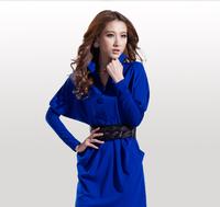 2014 autumn women's elegant long-sleeve slim fashion one-piece dress