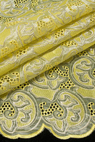 High quality african organza lace fabric for wedding/party,african cloth dress fabric with stone in yellow,5 yards/piece,TKL1797