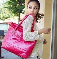 Hot Sale Fashion Women Winter Cotton Shoulder Bag Lady Casual Messenger Bag Nylon Handbags