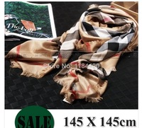real original  scarf  2014 new  top brand  shawl  wrap for women silk chiffon burb echarpe bandana hijab winter b rry pashimina