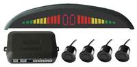 Free shipping!Car LED Parking Sensor Monitor Auto Reverse Backup Radar Detector System + 4 rader