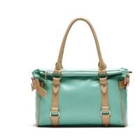 Color block sidepiece all-match bow shoulder bag cross-body bag women's handbag