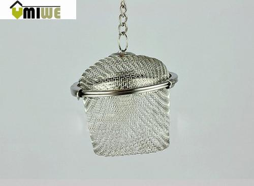 Umiwe Extra Large Stainless Steel Twist Lock Mesh Tea Ball Tea Infuser with Hook Chain(China (Mainland))