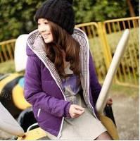 Plus size down cotton-padded jacket winter Women thickening wadded jacket female short design plus size cotton-padded jacket mm