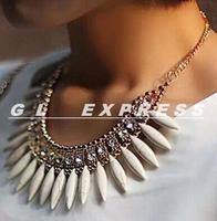 Hot Sale New Women Fashion Crystal Pendant Chain Choker Chunky Statement Bib Necklace