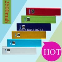 Power bank 2600mah power supply mobile phone bateria externa battery portable bateria no retail box 3pcs/lot free shipping