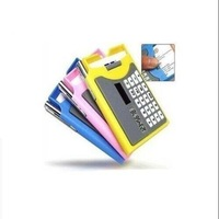 5Pcs Novelty Card Holder Shape Solar Calculator With Pen Free Shipping