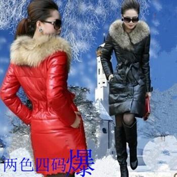 2014 down & parka for Женщины winter Кожа PU является высокотехнологичным и ...