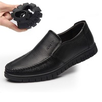 Free shipping genuine leather men's business casual men's shoes soft bottom set foot in the elderly father driving shoes