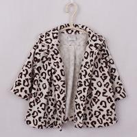 New 2014 Baby Coat Warm Fleece Girls Coat Leopard Children Outerwear Baby Clothing Baby Girl Autumn Winter Jacket