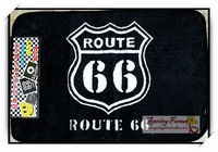 New High Quality Door Mat for Pub Bar or Home Decoration -Route 66  1pcs/lot 40x60cm
