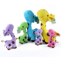 Hot seling Fashion 20PC Graceful bolster Cute soft Baby Children plush toys giraffe doll Party 5 colors
