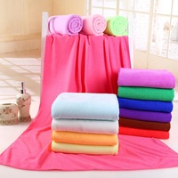 colorful soft 70 * 140 nano -absorbent microfiber towel solid drying towel Adult Childs Kids Superdry Bath Towels