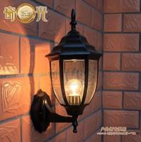 Bronze/Black 110V/220V LED outdoor wall mounted lighting vintage brief balcony lamp waterproof lighting fitting