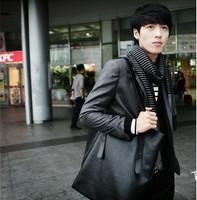 2013 Men's Leather Fashion Handbag Shoulder Bag Vertical Section Casual Big Bag Male Female Unisex  CN0077