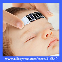 10pcs /Lot New 2014 Commodiously Health Monitors Baby Thermometer PET ForeHead Termometro -- BYA019 PA05 Wholesales