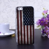 Retro US Flag Color Pattern Hard Case Cover for iPhone 6 6S  4.7 inch Screen