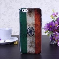 Retro India Flag Color Pattern Hard Case Cover for iPhone 6 6S  4.7 inch Screen