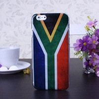 Retro South Africa Flag Color Pattern Hard Case Cover for iPhone 6 6S  4.7 inch Screen