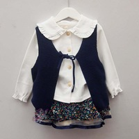 5pcs/lot (2-6T) Wholesale Baby Girls Vest, Knitted Sweater Autumn Cardigans For Girls Kids Winter Sleeveless Vest Free Shipping