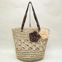 Free postal fashion minimalist atmosphere hollow rattan straw beach handbag shoulder