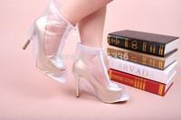 high-heel shoe women zipple rain boots  shoes cover  waterproof shoe cover  rainboots high-heeled shoes rainproof cover