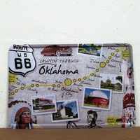 US Route 66  Vintage Metal Painting tin sign Bar pub home Wall Decor Retro Mural Poster Home Decor Craft K-63