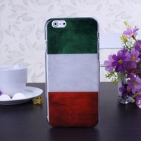 Retro Italy Flag Color Pattern Hard Case Cover for iPhone 6 6S  4.7 inch Screen