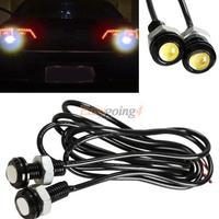 EA14 2pcs 6W Car Motor LED Eagle Eye DRL Daytime Running Tail Backup Light